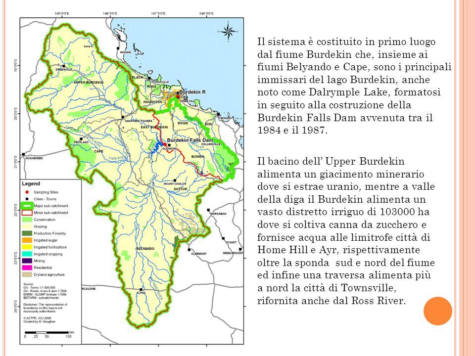 Il sistema è costituito in primo luogo dal fiume Burdekin che, insieme ai fiumi Belyando e Cape, sono i principali immissari del lago Burdekin, anche noto come Dalrymple Lake, formatosi in seguito alla costruzione della Burdekin Falls Dam avvenuta tra il 1984 e il 1987.