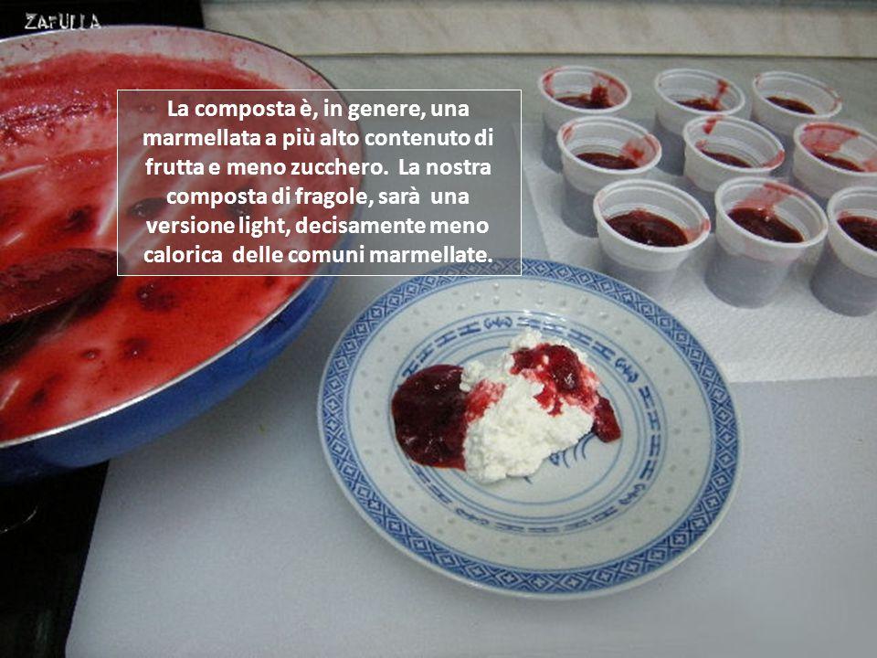 La composta è, in genere, una marmellata a più alto contenuto di frutta e meno zucchero.