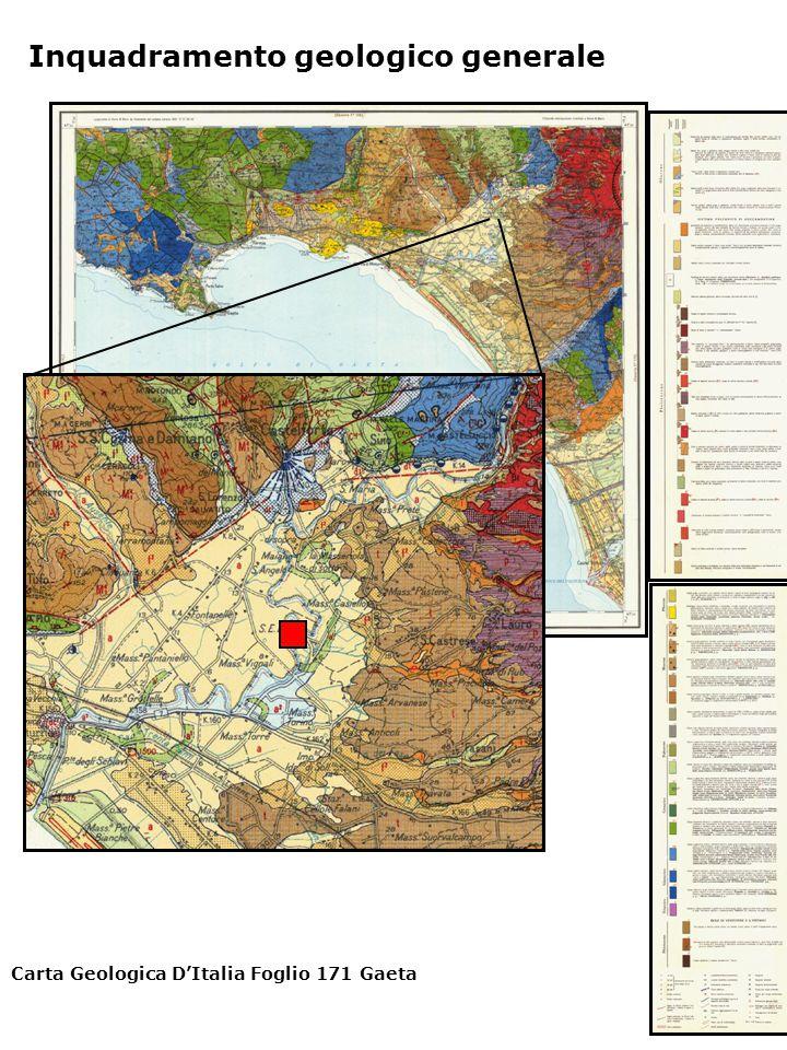 Carta Geologica D'Italia Foglio 171 Gaeta Inquadramento geologico generale