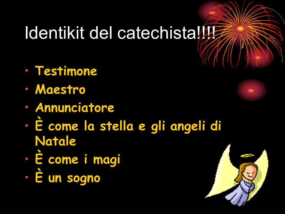 Identikit del catechista!!!.