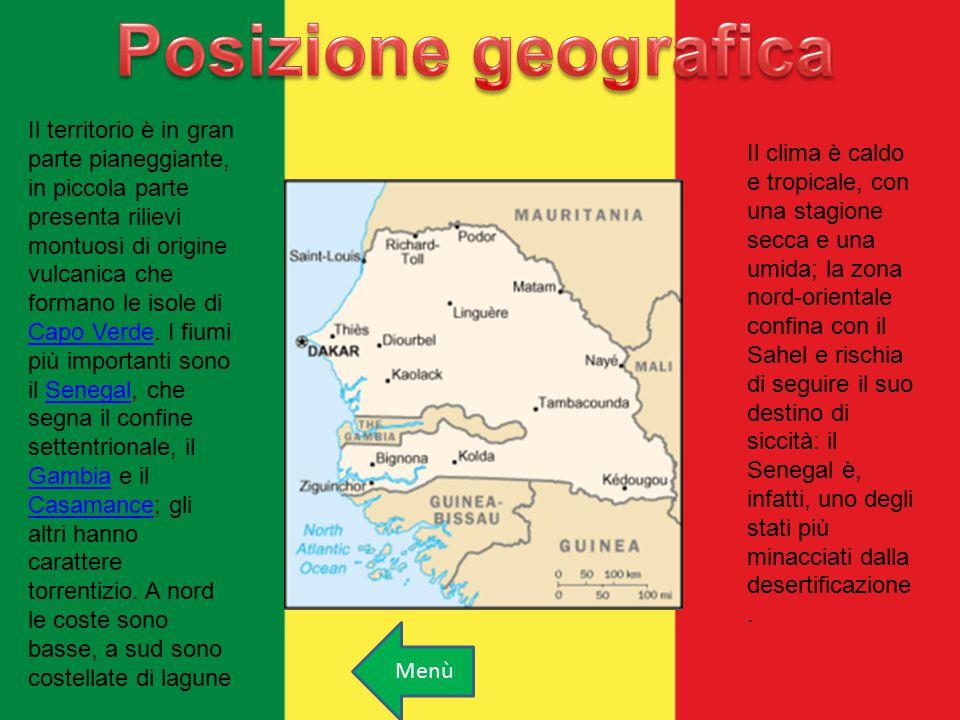 Il territorio è in gran parte pianeggiante, in piccola parte presenta rilievi montuosi di origine vulcanica che formano le isole di Capo Verde. I fium