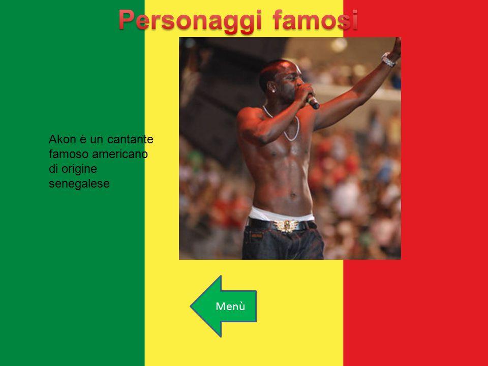 Akon è un cantante famoso americano di origine senegalese Menù