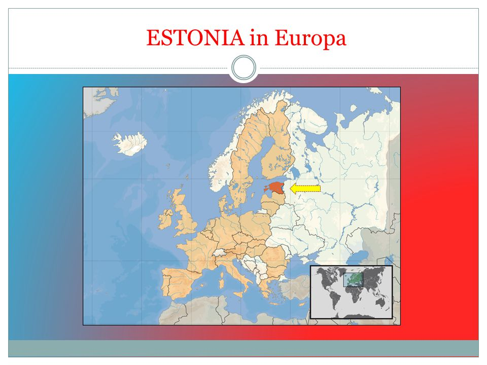 INFORMAZIONI GENERALI SUPERFICIE: 45227 KMQ ABITANTI: 1.345.000 DENSITA': 30 AB/kmq ORDINAMENTO: REPUBBLICA PARLAMENTARE CAPITALE: TALLINN LINGUA: ESTONE RELIGIONE: PROTESTANTE, ORTODOSSA MONETA: DAL 1° GENNAIO 2011 L'EURO INGRESSO UE: 2004