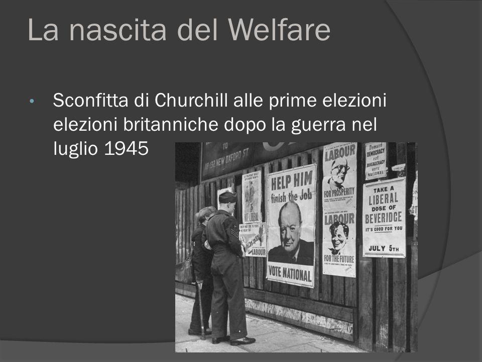 La nascita del Welfare Sconfitta di Churchill alle prime elezioni elezioni britanniche dopo la guerra nel luglio 1945