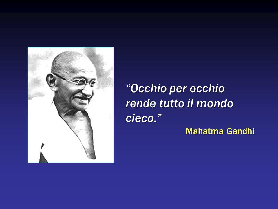 Occhio per occhio rende tutto il mondo cieco. Mahatma Gandhi