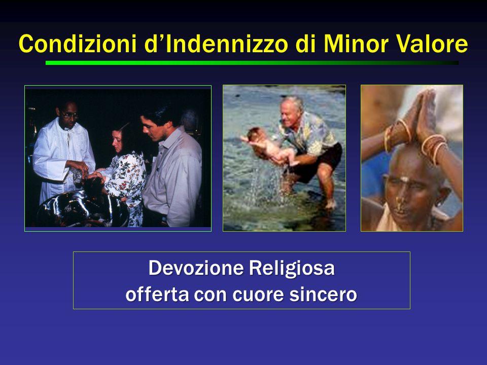 Condizioni d'Indennizzo di Minor Valore Devozione Religiosa offerta con cuore sincero