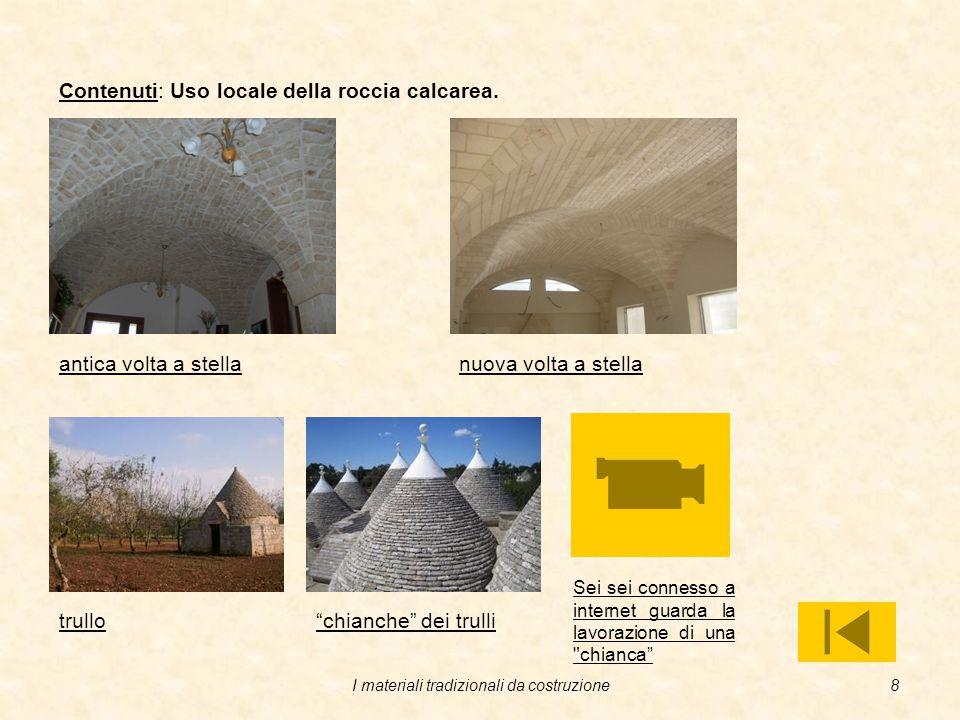 I materiali tradizionali da costruzione7 Contenuti: Origine delle rocce. Rocce eruttive o ignee: derivano dalla solidificazione dei magmi vulcanici ch