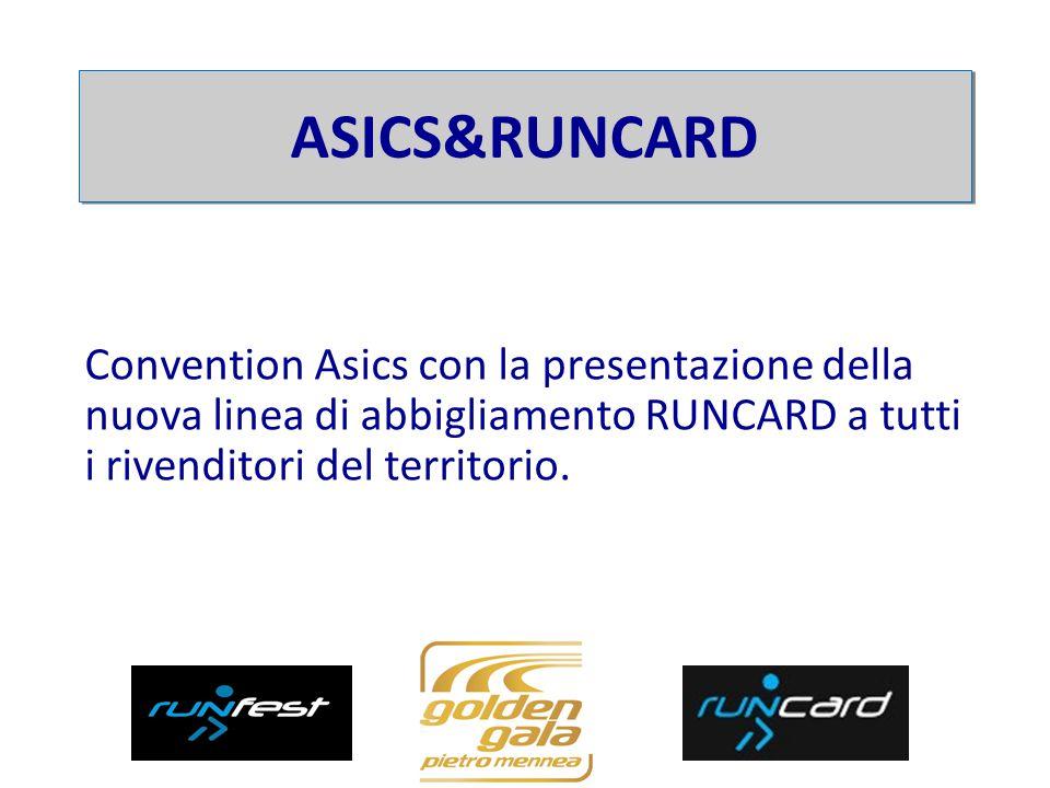 Convention Asics con la presentazione della nuova linea di abbigliamento RUNCARD a tutti i rivenditori del territorio.