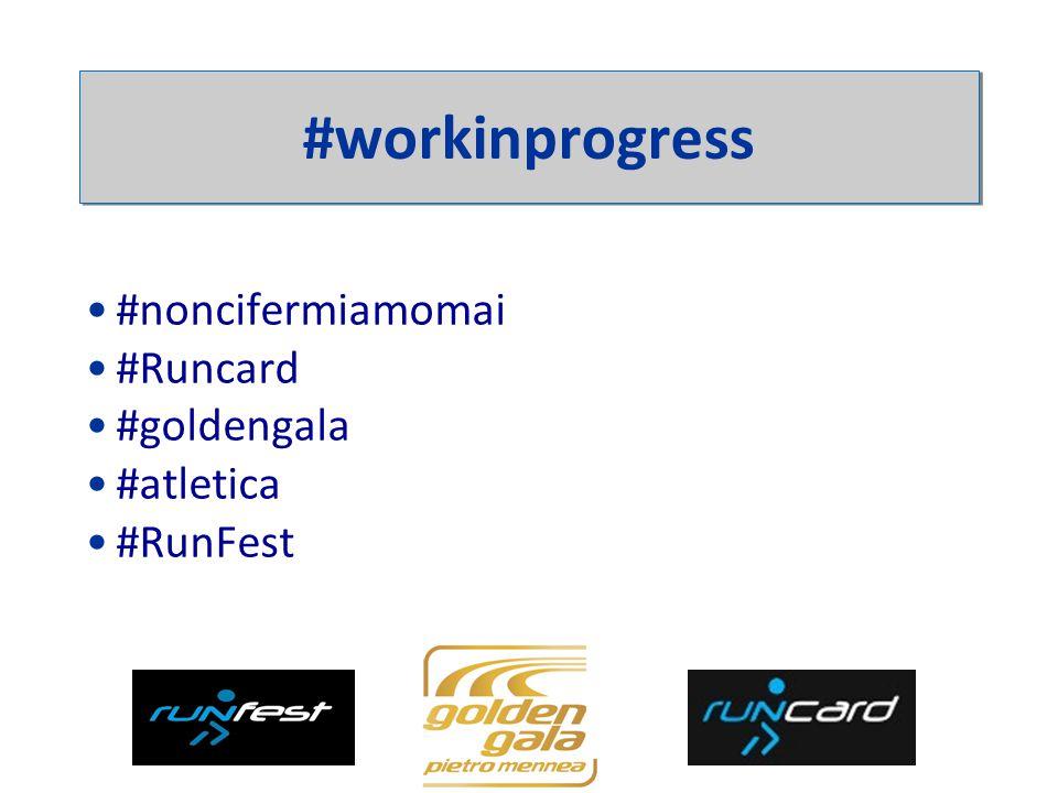 #noncifermiamomai #Runcard #goldengala #atletica #RunFest