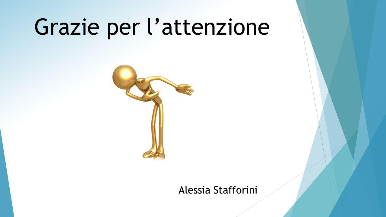 Grazie per l'attenzione Alessia Stafforini