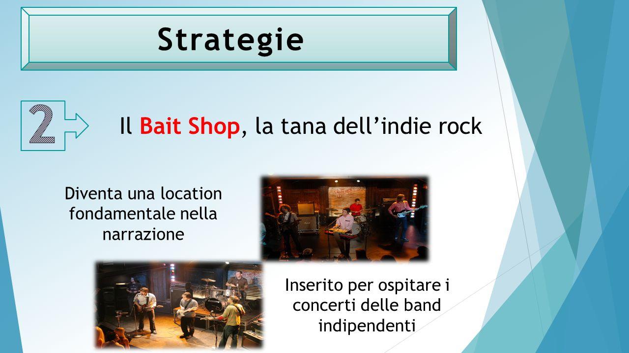 Strategie Il Bait Shop, la tana dell'indie rock Inserito per ospitare i concerti delle band indipendenti Diventa una location fondamentale nella narrazione