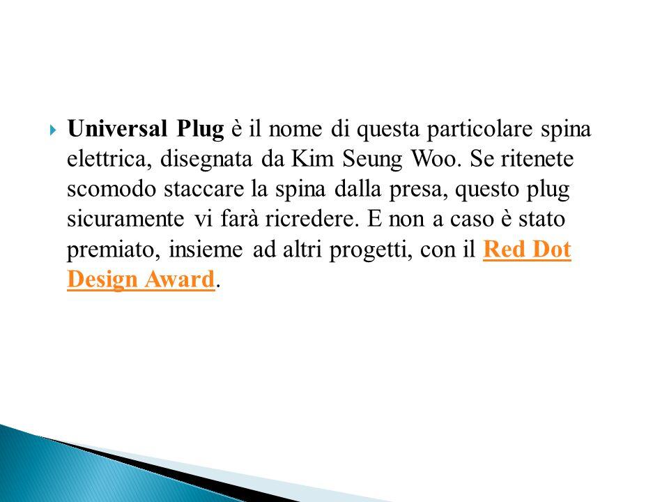  Universal Plug è il nome di questa particolare spina elettrica, disegnata da Kim Seung Woo.