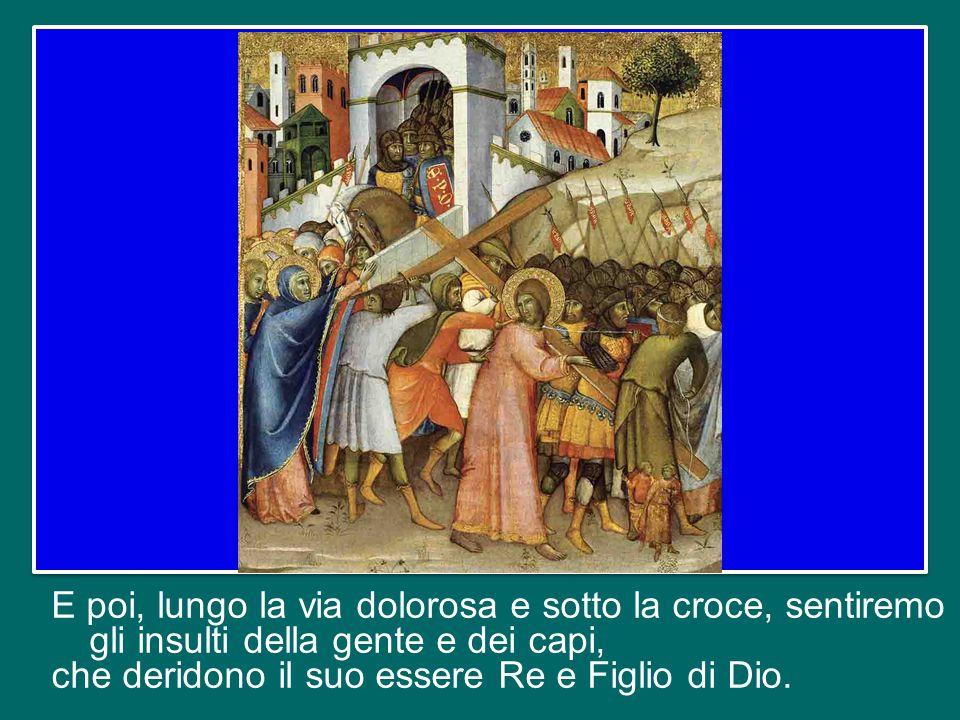 Sentiremo che Pietro, la roccia dei discepoli, lo rinnegherà per tre volte.