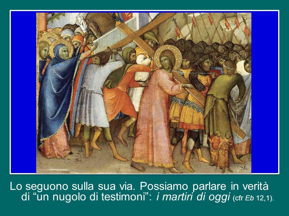 Pensiamo anche all'umiliazione di quanti per il loro comportamento fedele al Vangelo sono discriminati e pagano di persona.