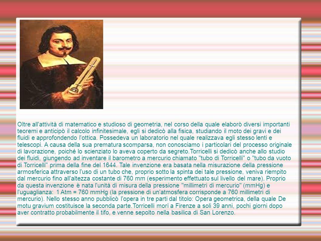 ii Oltre all'attività di matematico e studioso di geometria, nel corso della quale elaborò diversi importanti teoremi e anticipò il calcolo infinite