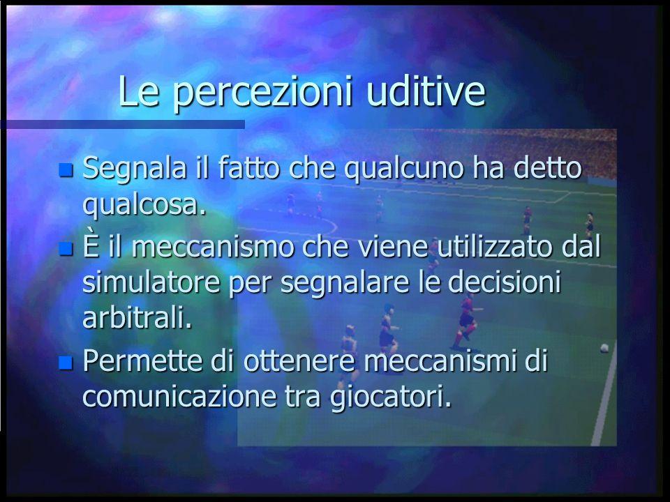 Le percezioni uditive n Segnala il fatto che qualcuno ha detto qualcosa.