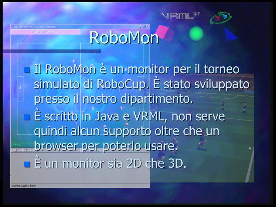 RoboMon n Il RoboMon è un monitor per il torneo simulato di RoboCup.