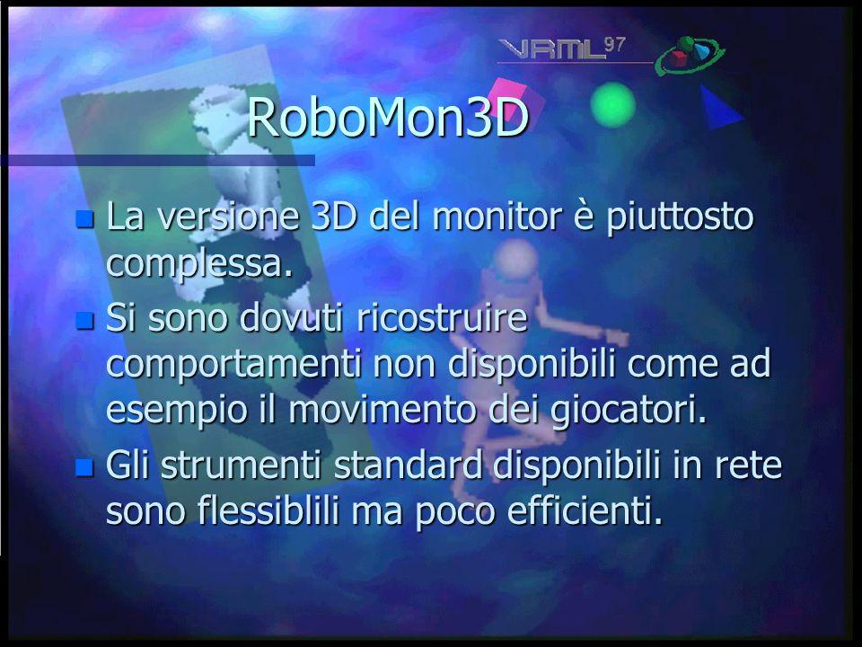 RoboMon3D n La versione 3D del monitor è piuttosto complessa.