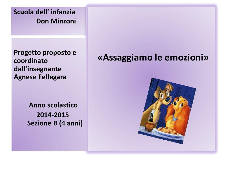 Scuola dell' infanzia Don Minzoni «Assaggiamo le emozioni» Progetto proposto e coordinato dall'insegnante Agnese Fellegara Anno scolastico 2014-2015 S