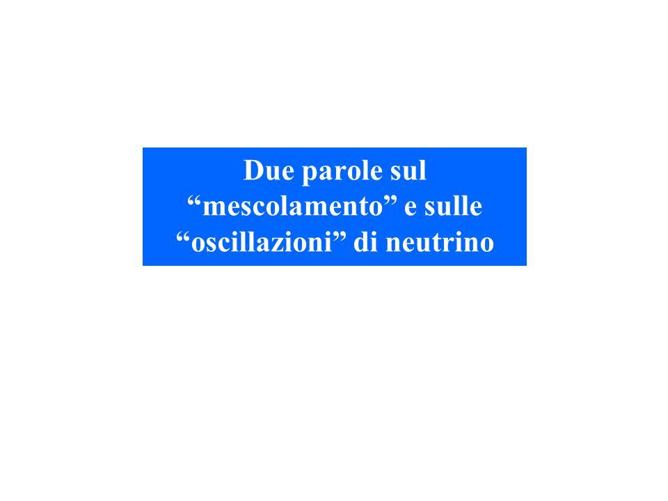 """Due parole sul """"mescolamento"""" e sulle """"oscillazioni"""" di neutrino"""
