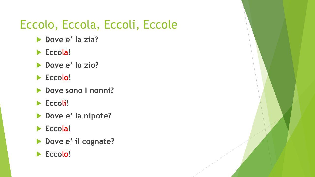 ECCOLO, ECCOLA, ECCOLI, ECCOLE. Dove e' la professoressa Lanza.
