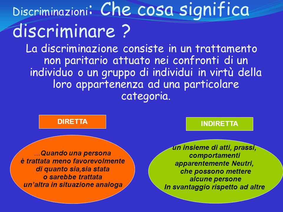 Discriminazioni: D.Lgs. 215/2003 e D.lgs.