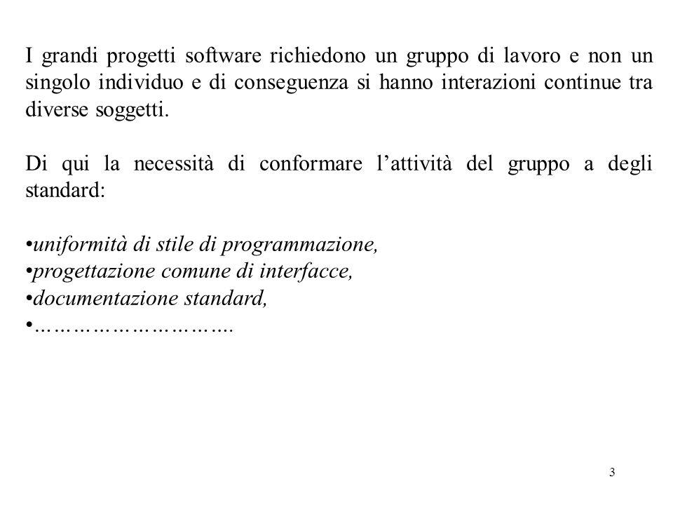 3 I grandi progetti software richiedono un gruppo di lavoro e non un singolo individuo e di conseguenza si hanno interazioni continue tra diverse soggetti.