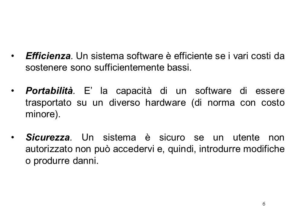 7 E' necessario, quindi, introdurre una metodologia per lo sviluppo del software che abbia due caratteristiche fondamentali: essere una descrizione astratta di come si costruiscono grossi sistemi di software; provvedere a prescrizioni di come il software deve essere costruito.