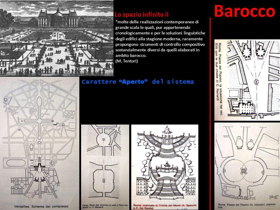 """Lo spazio infinito il Barocco """"molte delle realizzazioni contemporanee di grande scala le quali, pur appartenendo cronologicamente e per le soluzioni"""