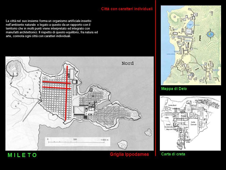 La città nel suo insieme forma un organismo artificiale inserito nell'ambiente naturale e legato a questo da un rapporto con il territorio che in molt