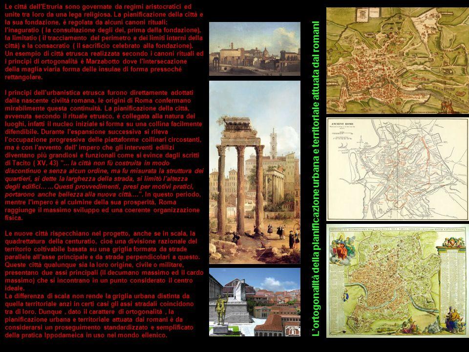 Le città dell'Etruria sono governate da regimi aristocratici ed unite tra loro da una lega religiosa. La pianificazione della città e la sua fondazion