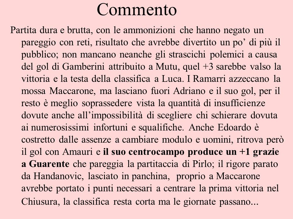 PILONI – CAIMANO COSMICO 3-2