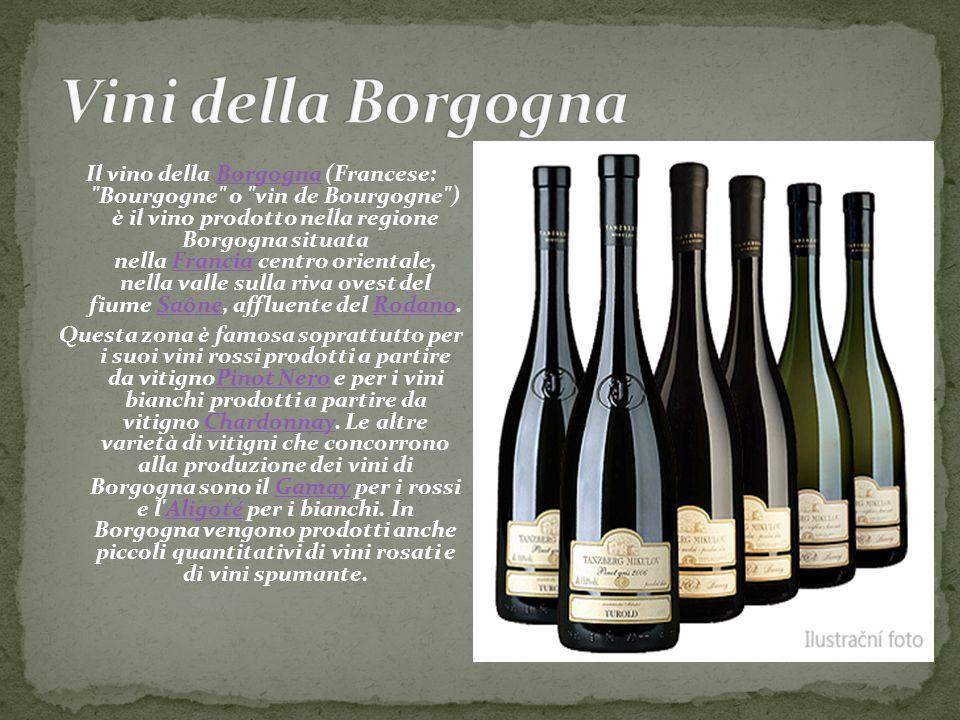 Il vino della Borgogna (Francese: