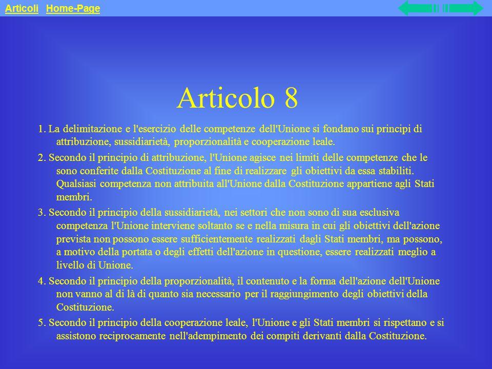 Articolo 8 1.