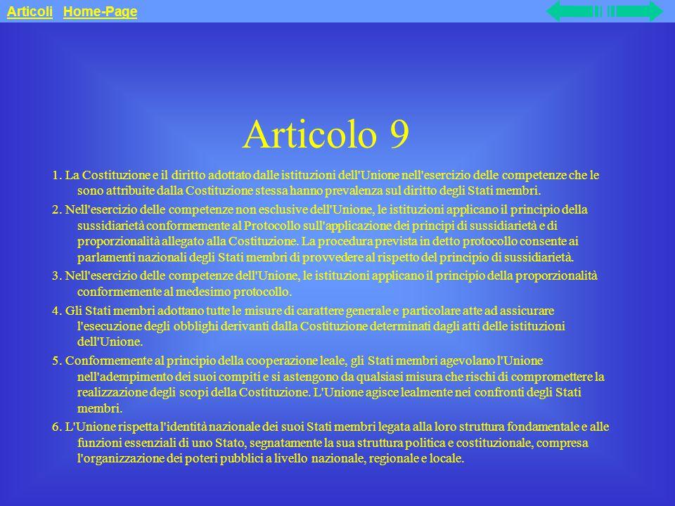 Articolo 9 1.