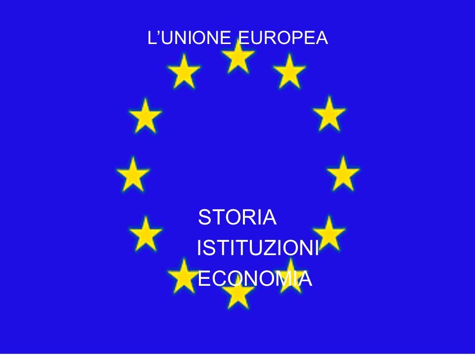 STORIA ISTITUZIONI ECONOMIA L'UNIONE EUROPEA