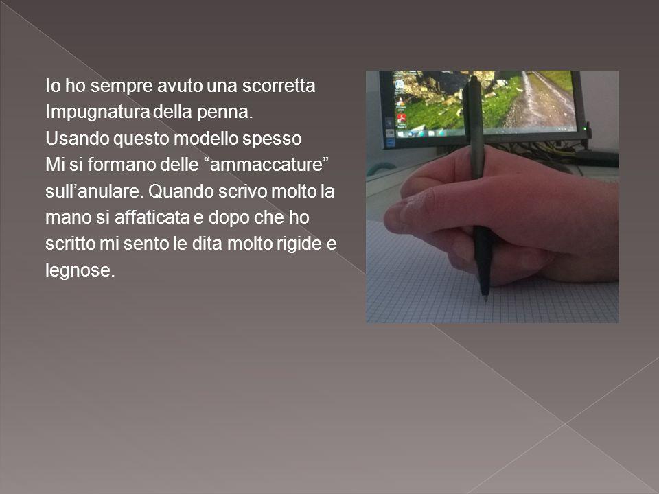 """Io ho sempre avuto una scorretta Impugnatura della penna. Usando questo modello spesso Mi si formano delle """"ammaccature"""" sull'anulare. Quando scrivo m"""