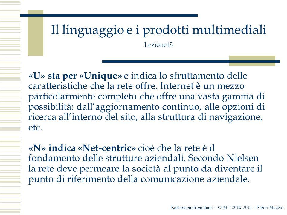 Il linguaggio e i prodotti multimediali Lezione15 I contenuti di un sito nel web devono essere sviluppati con l'approccio della piramide invertita: non in lunghezza ma in profondità Questo attraverso l'ipertesto con cui non si spezza un testo, ma lo si organizza.