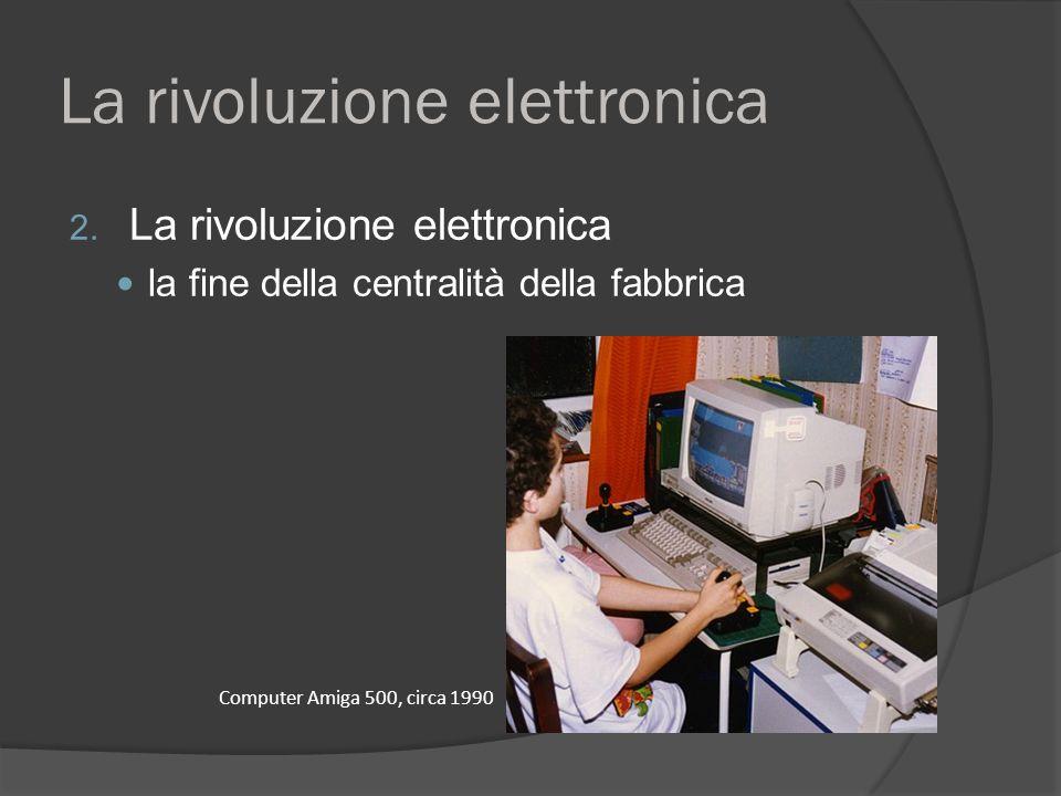 La rivoluzione elettronica 2. La rivoluzione elettronica la fine della centralità della fabbrica Computer Amiga 500, circa 1990