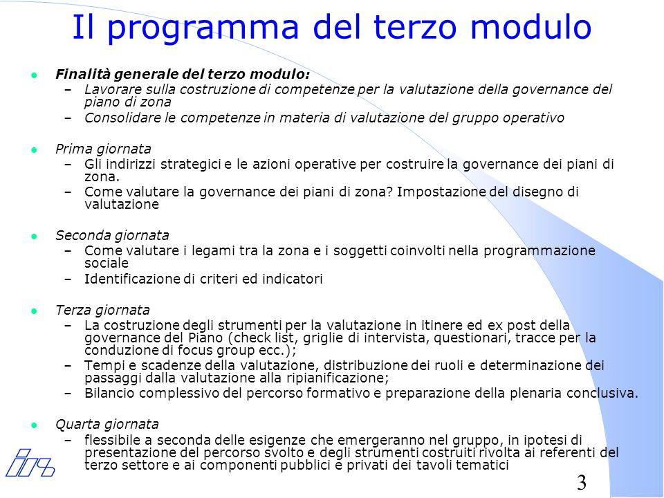 4 Il programma della giornata l Definizioni del concetto di governance l Analisi e declinazione del senso della governance per i piani di zona locali l Impostazione del disegno di valutazione