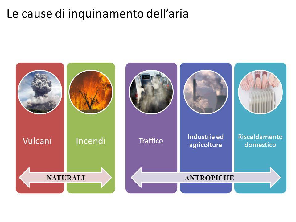 Le cause di inquinamento dell'aria NATURALIANTROPICHE