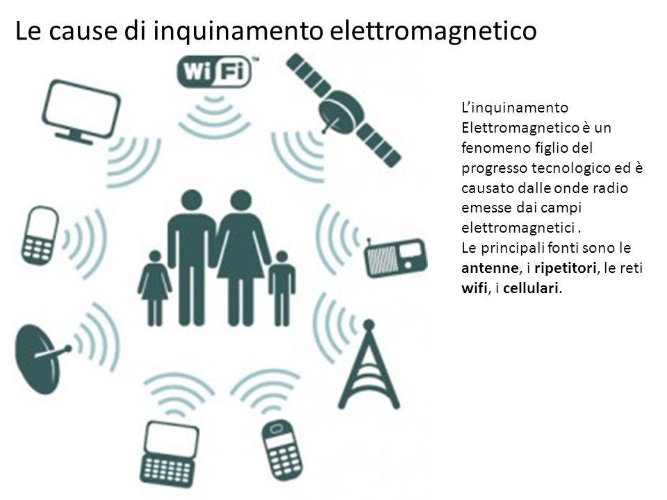 Le cause di inquinamento elettromagnetico L'inquinamento Elettromagnetico è un fenomeno figlio del progresso tecnologico ed è causato dalle onde radio
