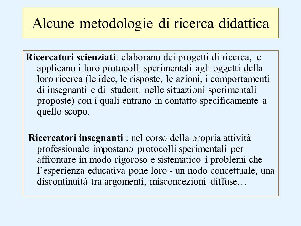 La Ricerca-Azione e le implicazioni nel processo di insegnamento /apprendimento La pratica della R-A prevede la raccolta sistematica di dati nel corso di una sequenza programmata di attività in classe, e l'utilizzo di tali dati per la riflessione e la successiva ri-progettazione.