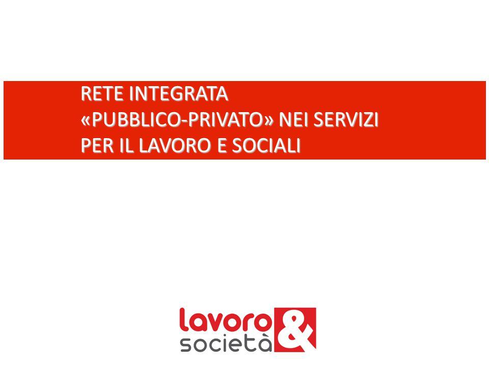 RETE INTEGRATA «PUBBLICO-PRIVATO» NEI SERVIZI PER IL LAVORO E SOCIALI