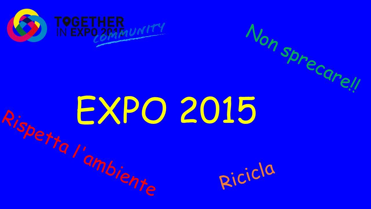 EXPO 2015 Non sprecare!! Ricicla Rispetta l'ambiente