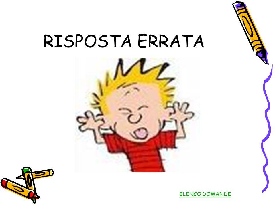 RISPOSTA ERRATA ELENCO DOMANDE