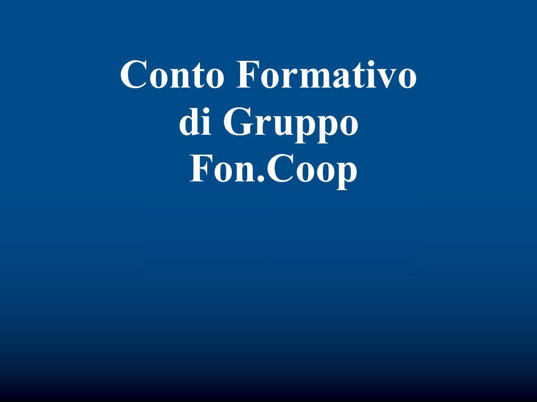 Conto Formativo di Gruppo Fon.Coop