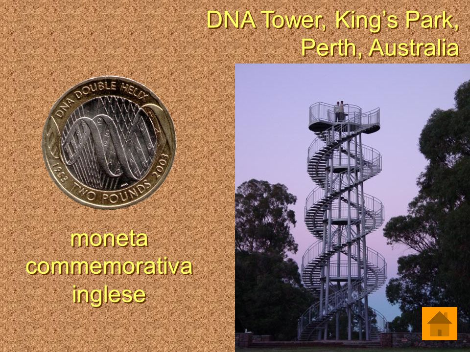 DNA Tower, King's Park, Perth, Australia DNA Tower, King's Park, Perth, Australia moneta commemorativa inglese