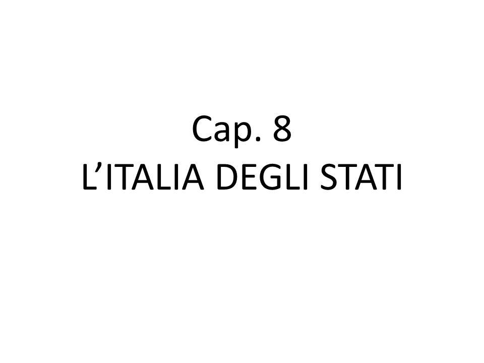 L'Italia divisa Per tutto il Medioevo l'Italia rimane divisa in tanti stati diversi, grandi e piccoli Il papato costituiva l'unica forza unitaria ma la sua influenza aveva alti e bassi; l'elezione dei papi dipendeva anche dall'influenza dei sovrani stranieri.