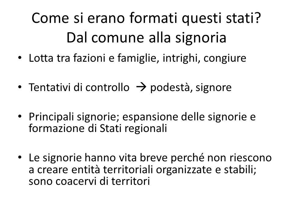 Cinque grandi stati regionali Milano Firenze Venezia Stato della Chiesa Regno di Napoli